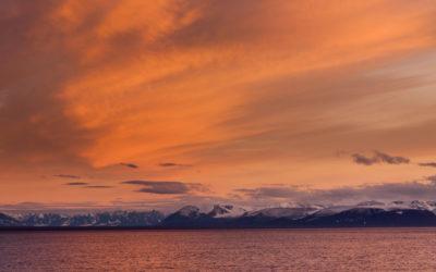 Arktische Mitternachtssonne