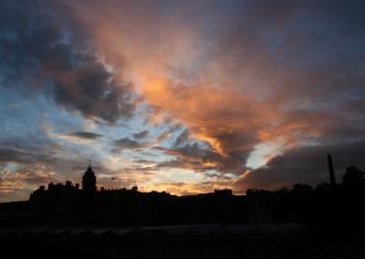 Edinburgh im Abendrot