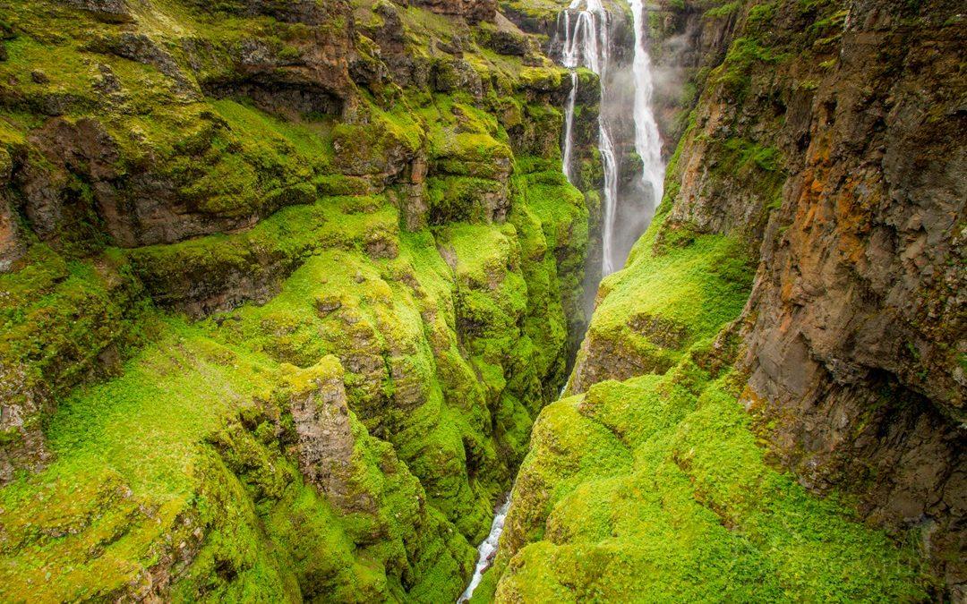 Glymur Wasserfall, Island
