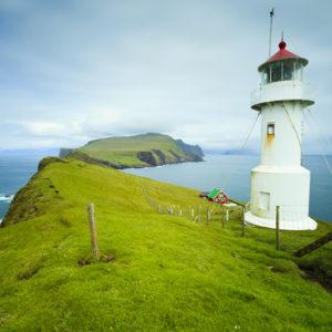 Autorundreisen Färöer Inseln Mykinesholmur Leuchtturm