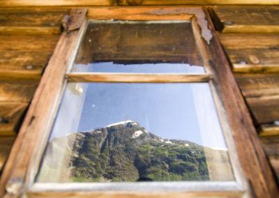 Fensterspiegelung am Geirangerfjord