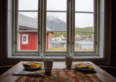 Gemütliches Frühstück auf den Lofoten