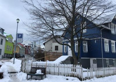 Häuser in der Innenstadt von Reykjavik