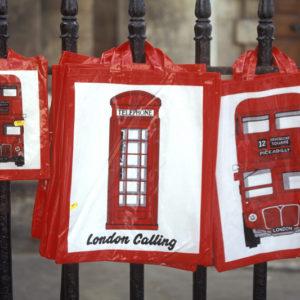 Städtereise London Souvenirtüten