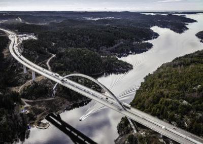 Brücke über den Svinesund zwischen Norwegen und Schweden