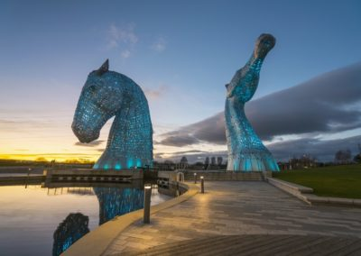 The Kelpies im Park The Helix bei Falkirk