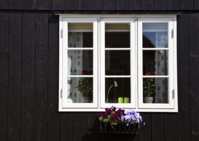 Traditionelles Haus in Tinganes, Torshavn