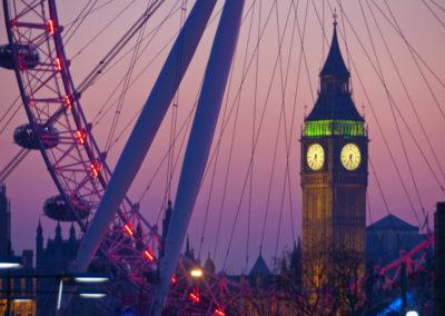 Milleniumrad und Big Ben in London