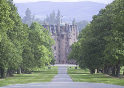 Glamis Castle in Tayside