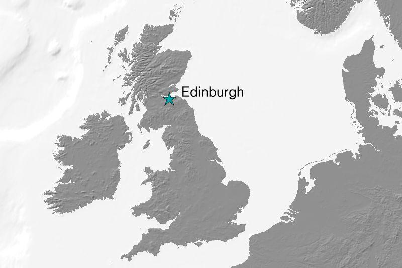 Karte Edinburgh/Schottland