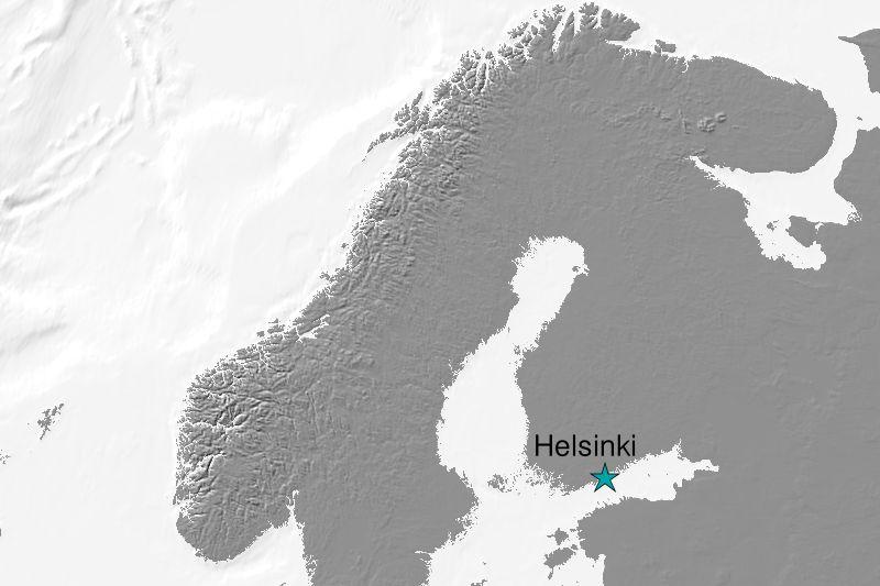 Karte Helsinki/Finnland