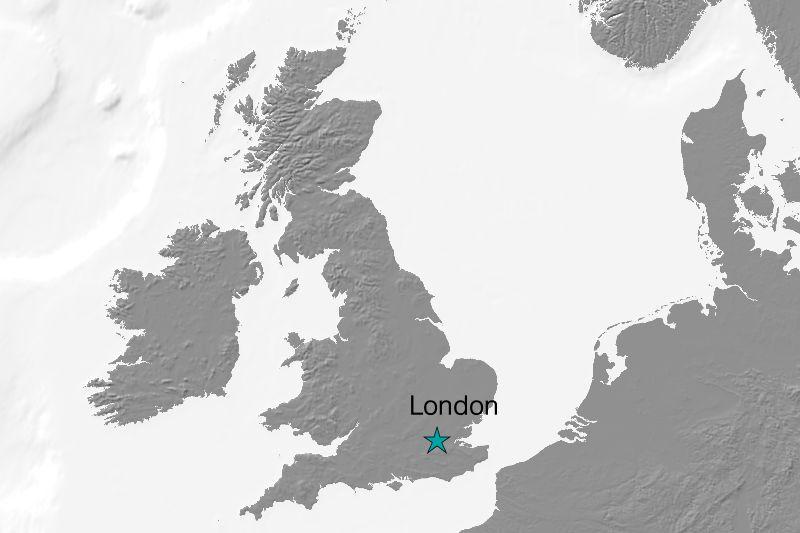 Karte London/England