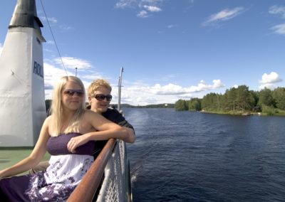 Schifffahrt auch dem See Kallavesi bei Kuopio
