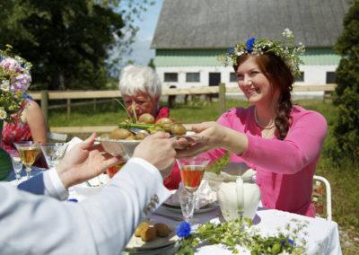 Mittsommer Lunch in Schweden