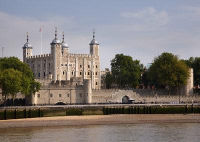 Tower von London an der Themse