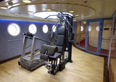Fitnessraum auf der MS Finnmarken