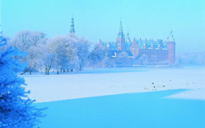 Winterliches Schloss Frederiksborg