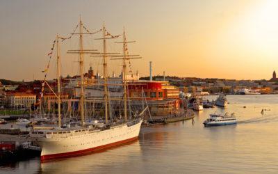 Hafen von Göteborg, Schweden