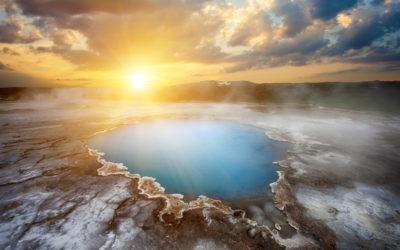 Heiße Quelle in Island