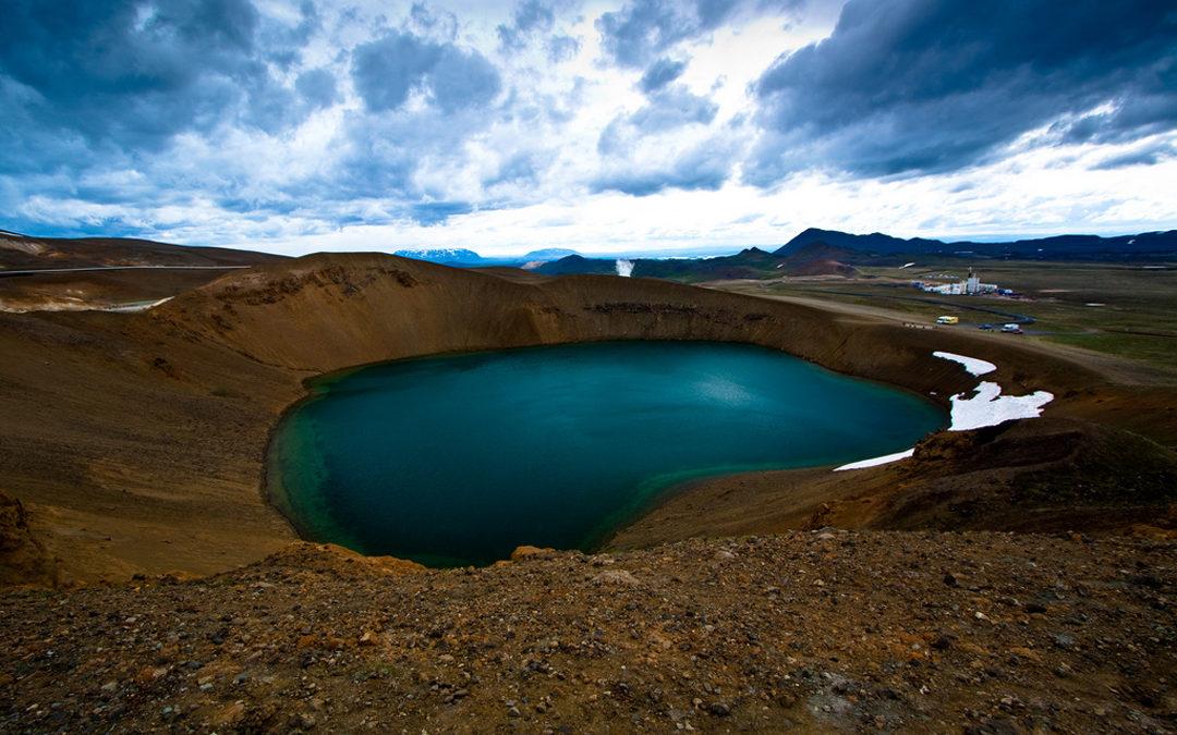 Im Flieger über… Island