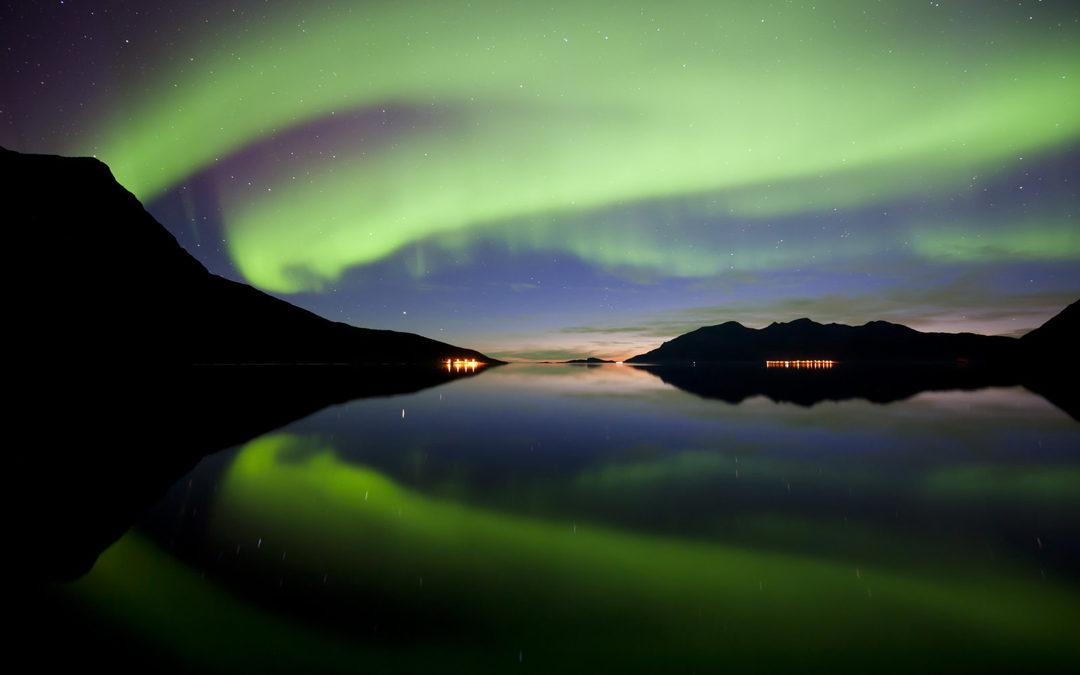 Nordlichter über Karlsøy