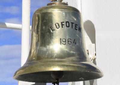 Glocke auf der MS Lofoten