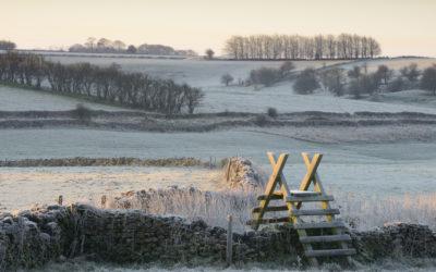 Frostige Morgenstimmung in England