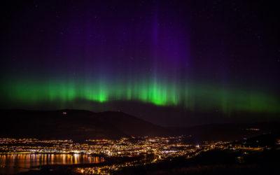 Nordlichter über Vossevangen