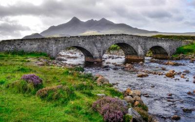 Sligachan Brücke auf der Isle of Skye
