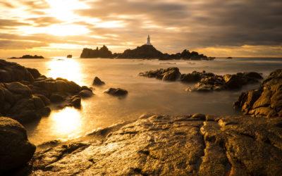 Sonnenuntergang auf Jersey