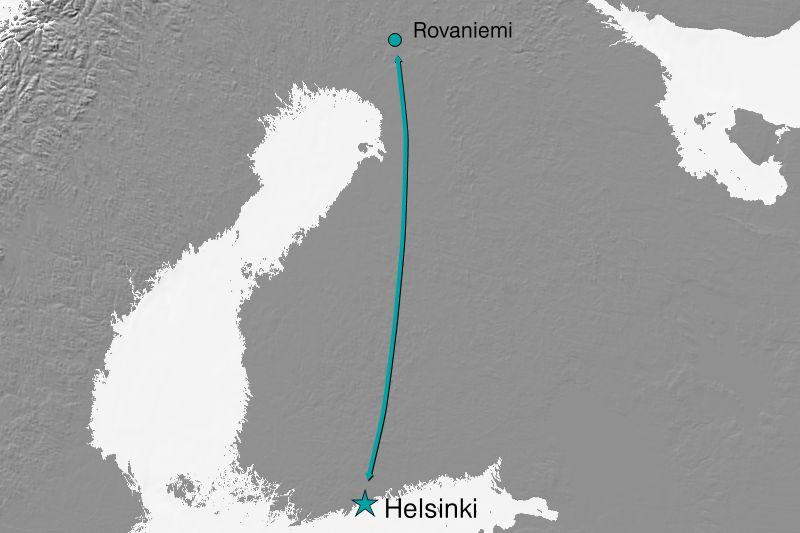 Karte Reiseverlauf Island - Juwelen der Insel
