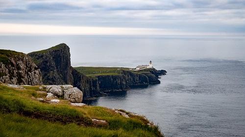 Leuchtturm an Schottlands Küste