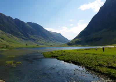 Flusslandschaft in Schottland