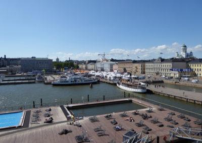 Blick über den Marktplatz von Helsinki