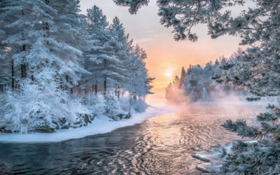 Winteridylle in Finnland