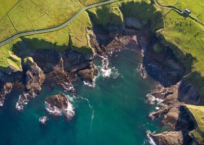 Luftaufnahme von Classiebawn Castle im County Sligo