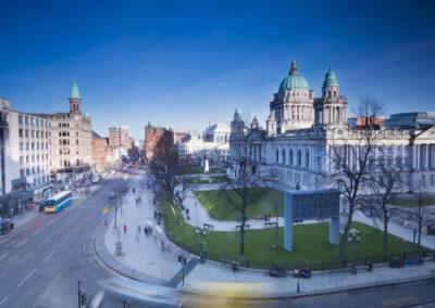Blick auf das Rathaus von Belfast, County Antrim