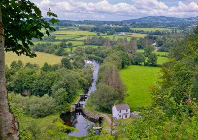 Clashganny Schleuse im Fluss Barrow, County Carlow