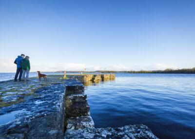 Pier am Hafen von Barley, County Longford