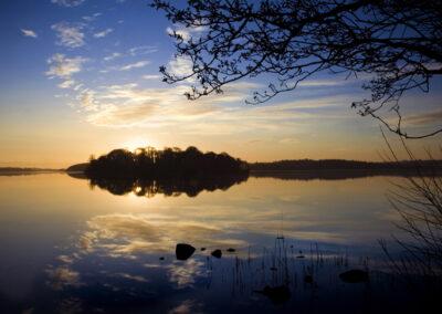 Sonnenuntergang am Lough Key im County Roscommon