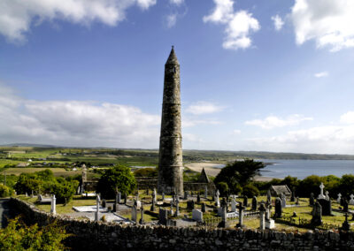 The Round Tower bei Ardmore im County Waterford