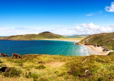 Blick auf den Tra Na Rossan Strand, County Donegal
