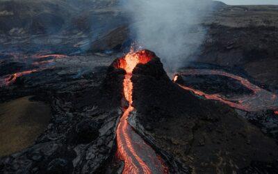 Vulkanische Aktivitäten auf der Halbinsel Reykjanes, Island