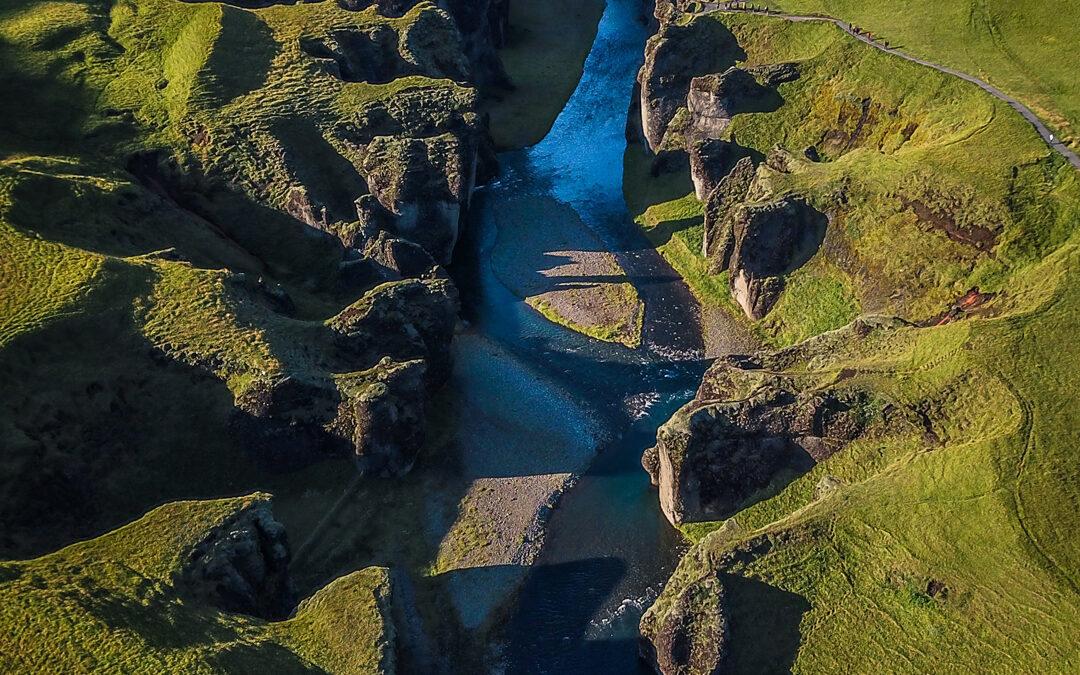 Canyon Fjaðrárgljúfur, Island