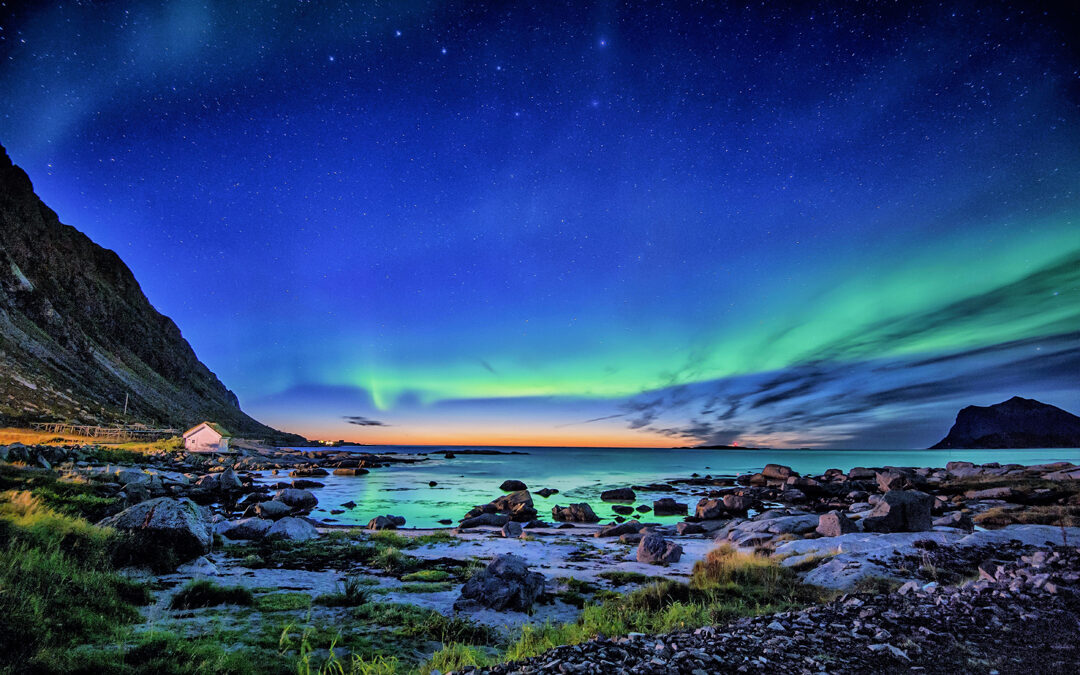 Nordlichter über den Lofoten
